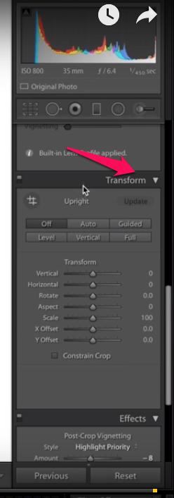 Utilize Transform Tool