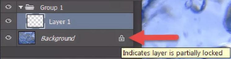 unlock layer adobe cc